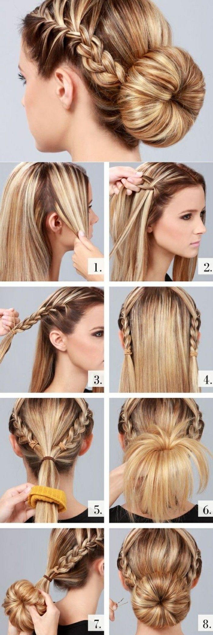 Как сделать бублик на голове с косами? или Делаем бублик на длинные волосы 83