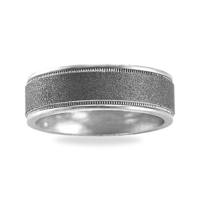 Mens Platinum Milgrain Edge Wedding Ring Wedding Ideas Pinterest
