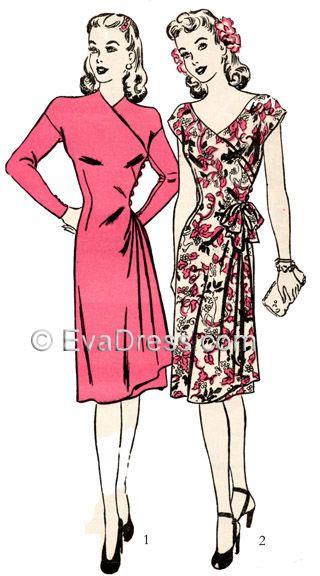 1943 Wrap Dress, Eva Dress
