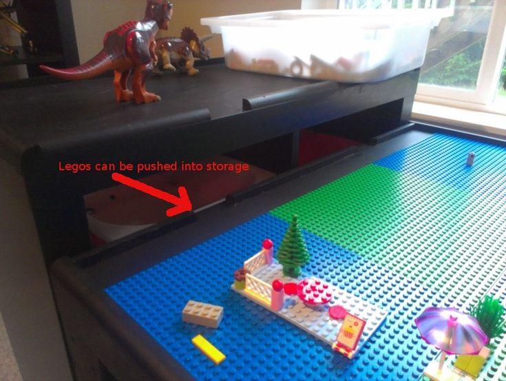 Ikea lego table 5 lego table idea lego fun pinterest for Table lego ikea