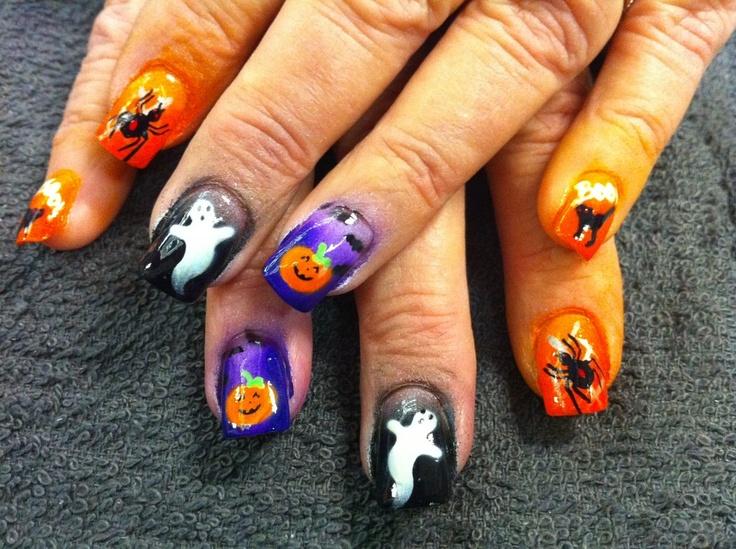 Airbrushed Nails