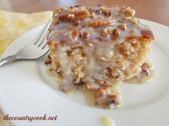The Country Cook: Southern Pecan Praline Cake with Butter Sauce ...
