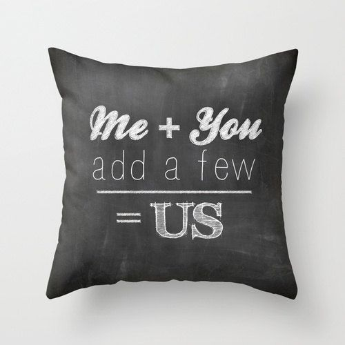 Chalk Board Family POPULAR FABRIC Throw Pillow by decomodwalls, $25.00