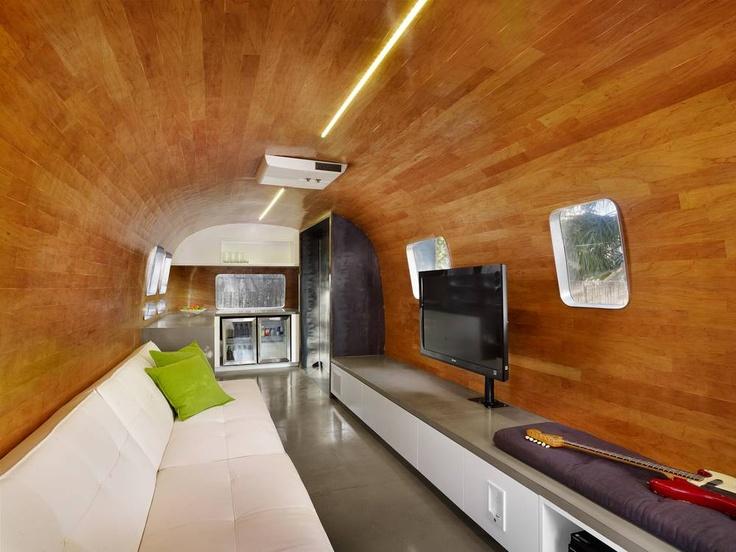 wood panel interior airstream airstream adventures pinterest