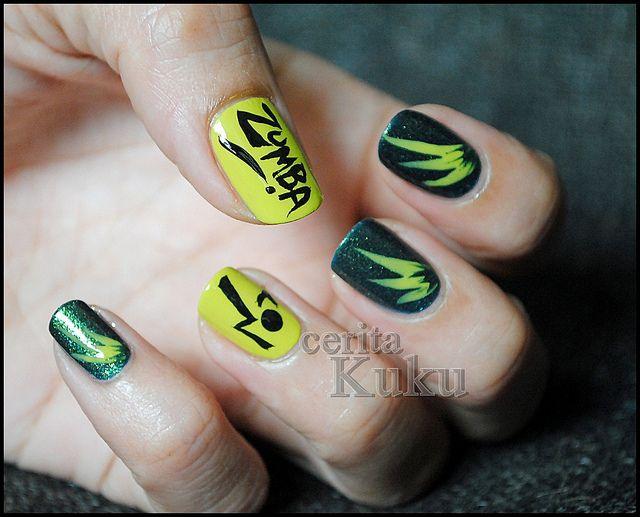 Zumba nail art. | Love4zumba | Pinterest