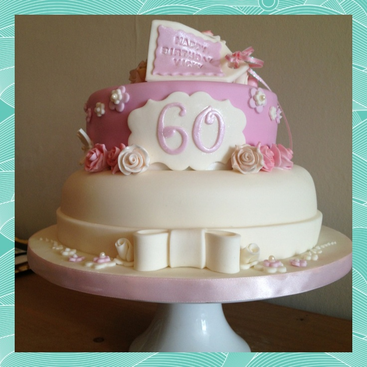 Cakes for women pretty cakes and the common on pinterest for 60th birthday cake decoration