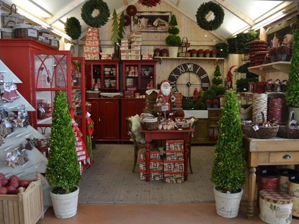 Garden center display of christmas port kells fall for Garden display ideas