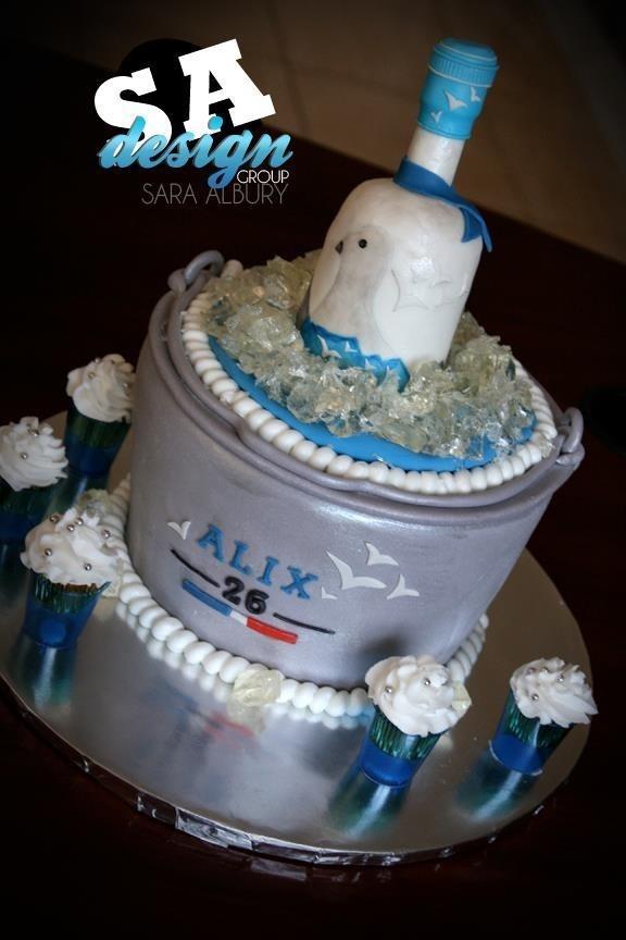 Edible Cake Images Albury : Grey goose cake by Sara. Sweet Melody CC- Ideas Pinterest