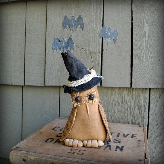 Primitive Halloween Owl