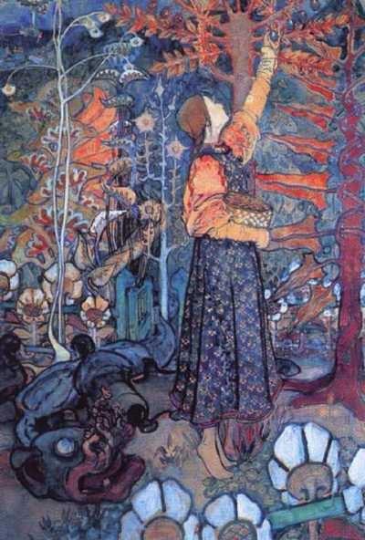 diagnosednostalgia:  Yelena Dmitryevna Polenova  The Serpent   1895 - Oil on canvas