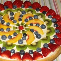 fruit pizza.   Fruit kabobs   Pinterest