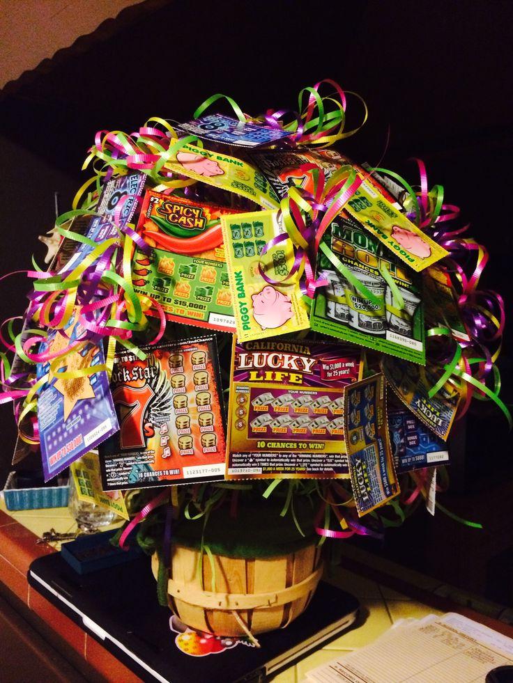 Lottery scratcher tickets gift basket mira gifts pinterest