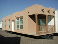 Southwestern style mobile home mobile home remodeling for Adobe style modular homes