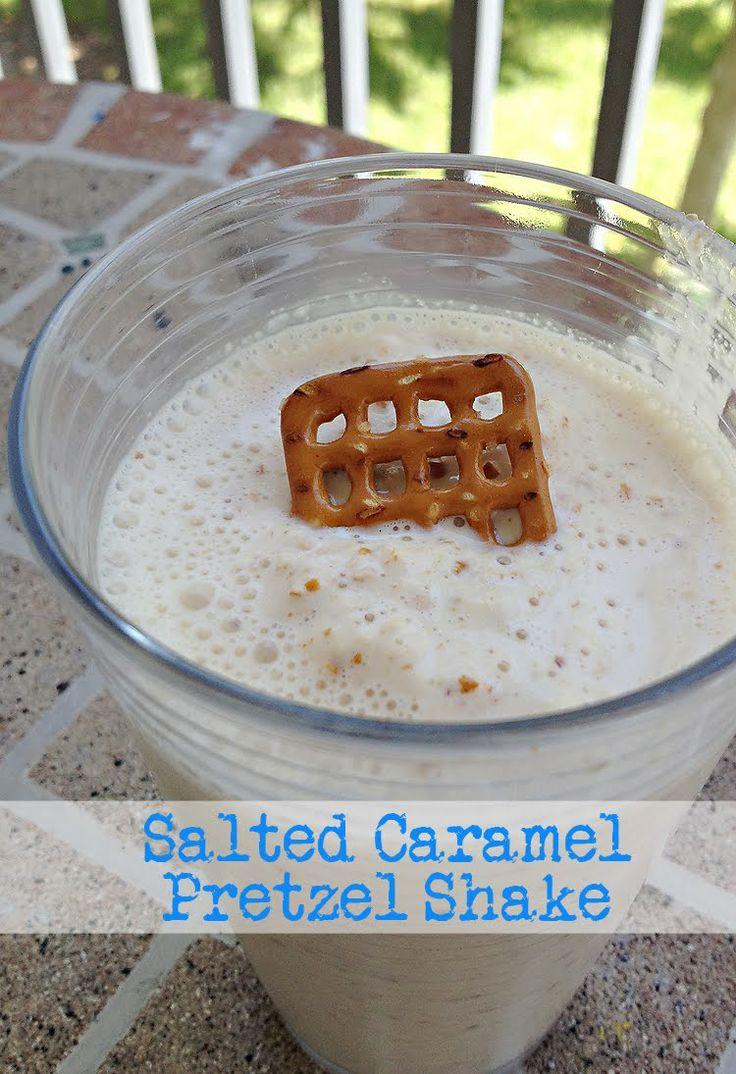 Salted Caramel Pretzel Shake | Shakes | Pinterest