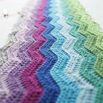 Crochet Tutorial Zigzag : Tutorial zig zag haken Haken / Crochet patterns Pinterest