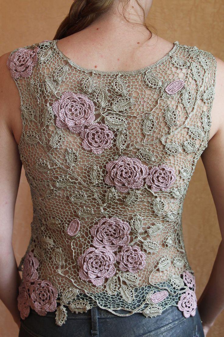 Irish crochet top crochet Pinterest