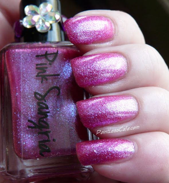 Ruby White Tips Pink Sangria | Nails & makeup | Pinterest