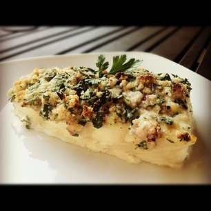 Herb & Almond-Crusted Halibut (Paleo, GF/DF)