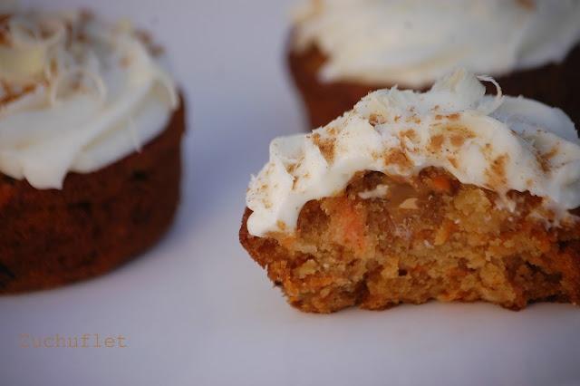 Cupcakes de zanahoria y dulce de leche