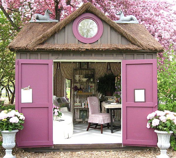 Cottage Dcor Garden Office Retreat GARDEN SHEDS Pinterest
