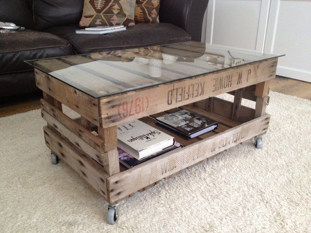 Vintage Wooden Crate Coffee Table Junk To Treasure Pinterest