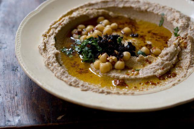 Nice presentation for hummus. | Fantastic Food | Pinterest