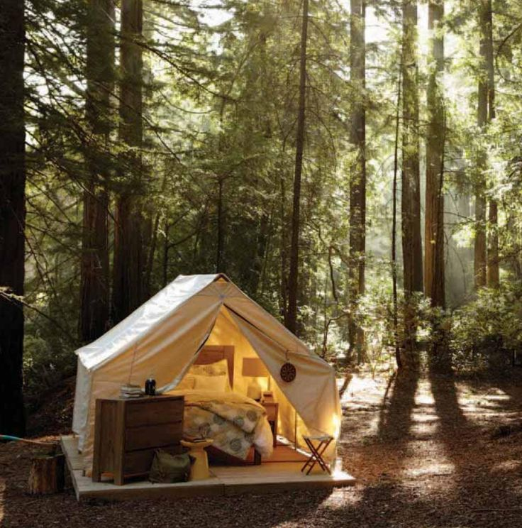 Tent in backyard Summer Guest House  camping  Pinterest
