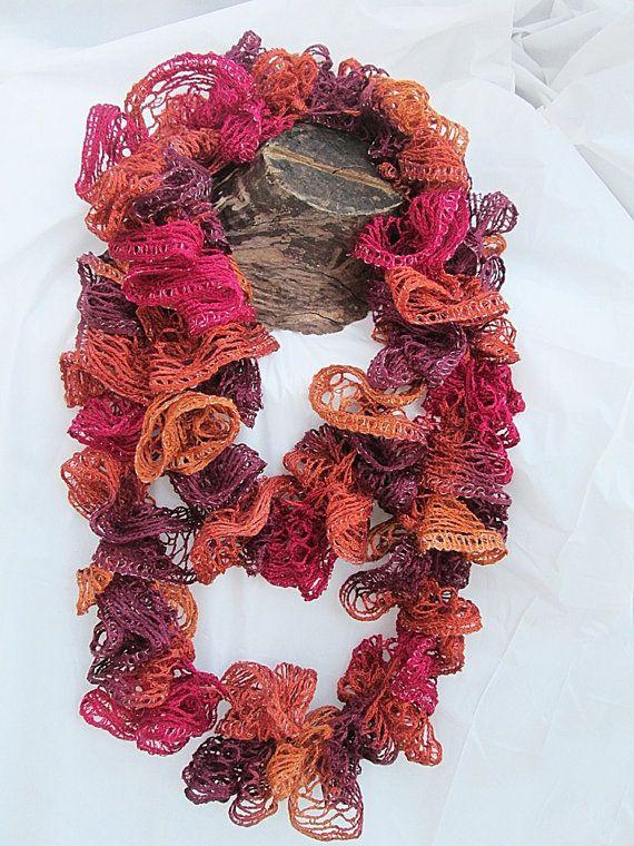 Luxurious sashay yarn ruffle infinity scarf warm by coastalkat 14