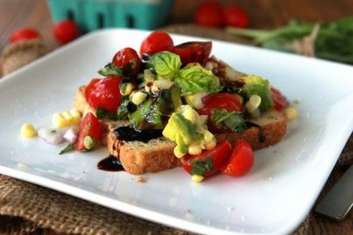 Avocado-Tomato Toast | Glorious Food | Pinterest