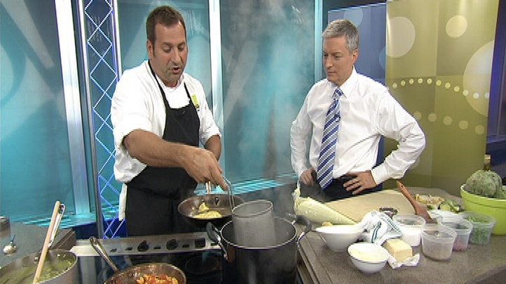 Chef Aram Mardigian from Wolfgang Puck American Grille at Borgata is heating up the 10! Show kitchen with his recipe for Spring artichoke ravioli.