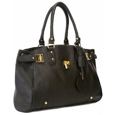 LUCCA Glamour Padlock Designer Inspired Shopper Hobo Tote Bag Purse Satchel Handbag w/Shoulder Strap --- http://bizz.mx/t3z