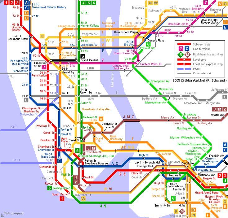 New York Metro Metro Map - http://holidaymapq/new-york-metro ...