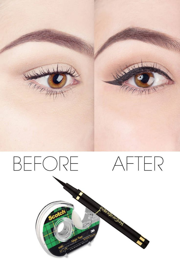 How to Use Scotch Tape to Perfect Your Liquid Eyeliner - Liquid Eyeliner Tape Trick How-To - ELLE