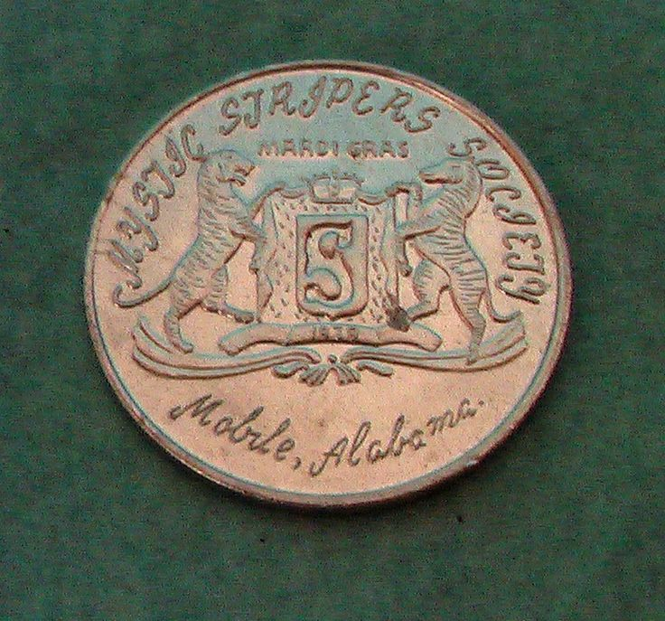 1975 Mobile AL Mardi Gras Doubloons 1 Mystic Stripers Where Smoke There's Fire