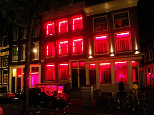 Red Light District in Amsterdam. I found this very interesting.