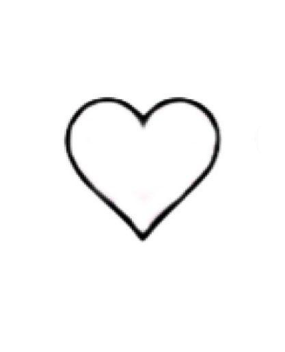 Black Heart Outline This shape, black outline,