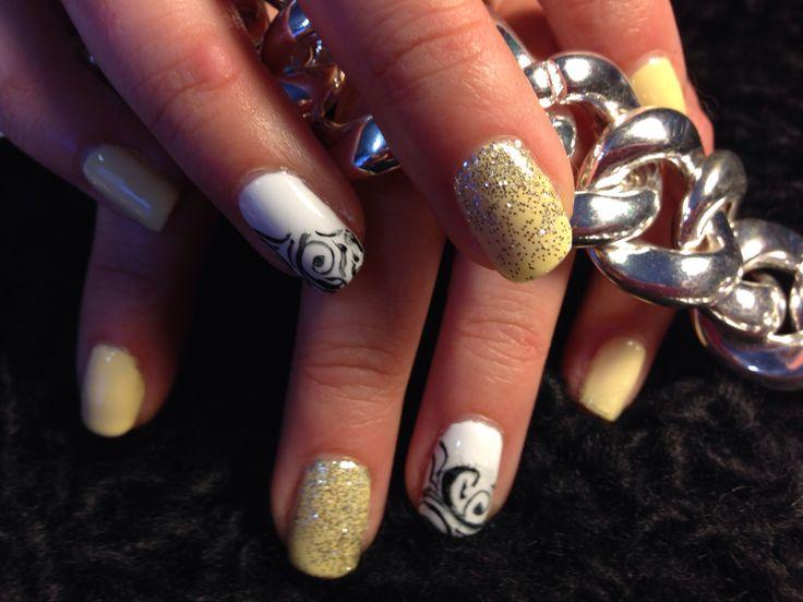 Cnd shellac new colors. Yellow nails white nails logan Utah nails by
