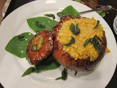 Pumpkin Risotto With Sage Roasted Chicken Recipe — Dishmaps