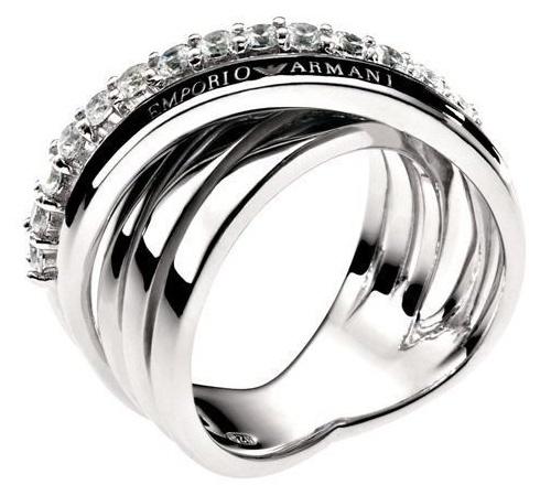 Emporio Armani Womens Ring Silver 925 EG2730040