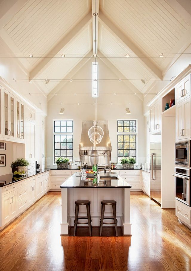 bright kitchen cathedral ceilings decorating pinterest