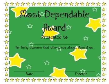 2nd grade awards just bcause
