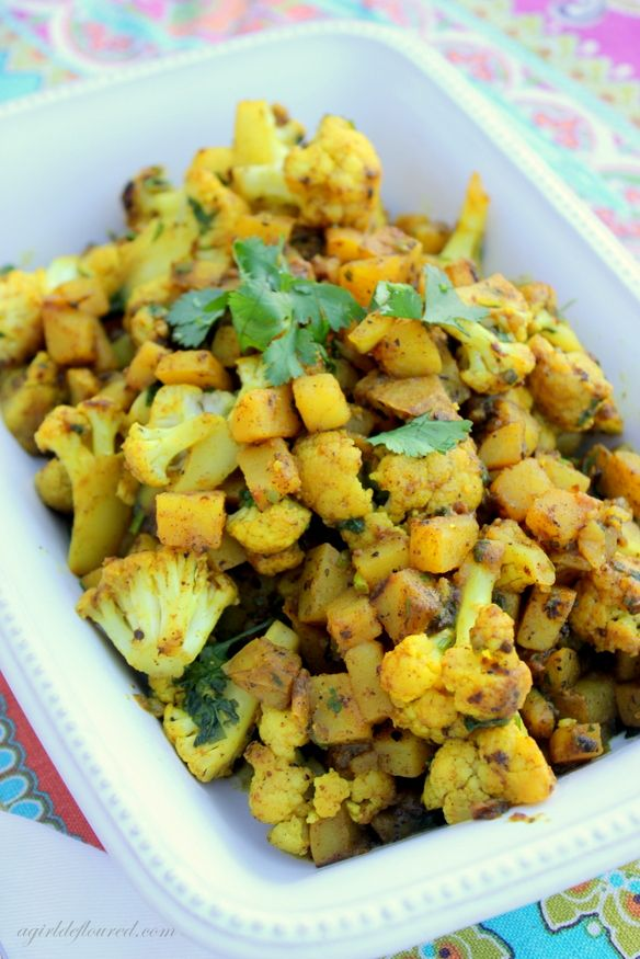 Indian Spiced Cauliflower And Potato Recipe — Dishmaps