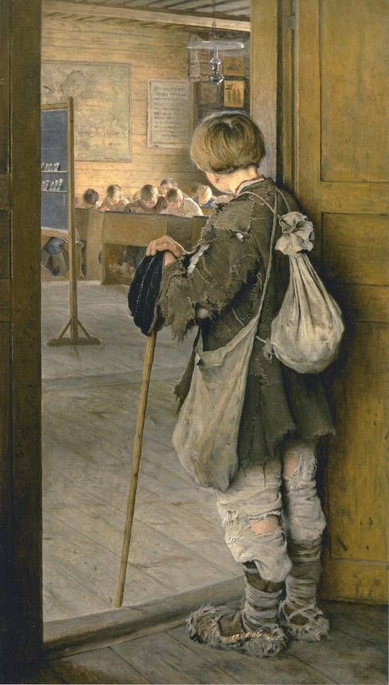 'At the School Door' by Nikolay Bogdanov-Belsky, 1897