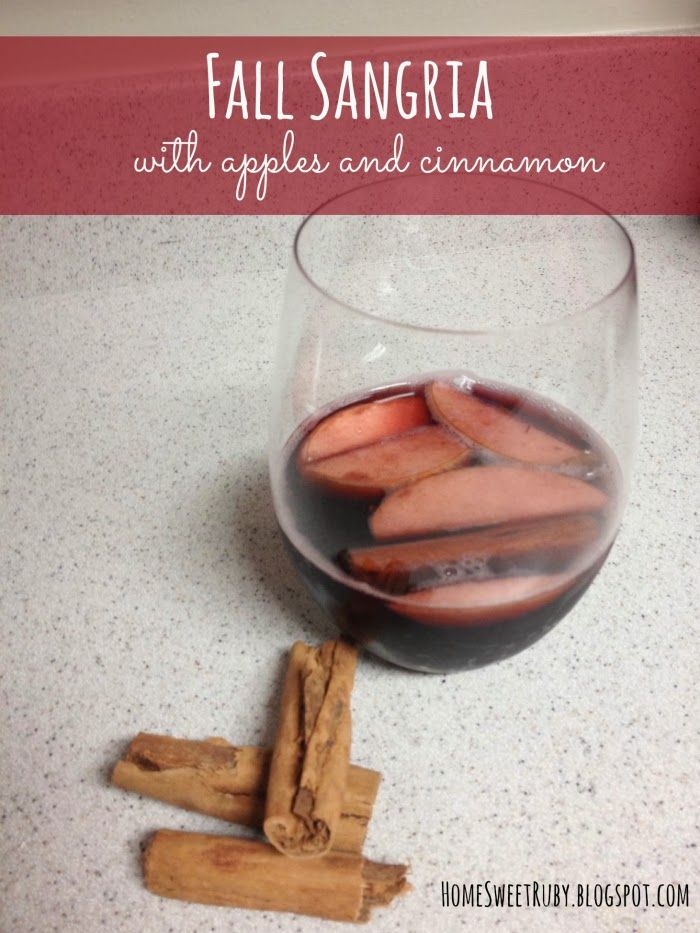 Fall Sangria with apples, cinnamon and pumpkin spice.. SO good!! #Fall ...