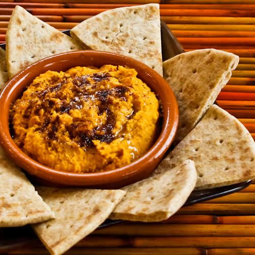 Recipe for Sweet Potato Hummus with Olive Oil and Sumac; great for a ...