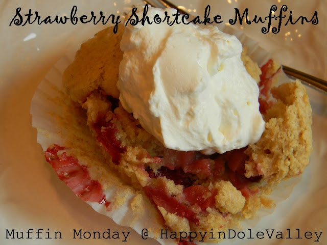 Strawberry Shortcake Muffins w/ homemade whipped cream