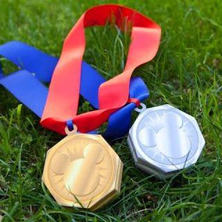 Kerajinan/prakarya anak untuk hadiah lomba, medali emas/perak/perunggu