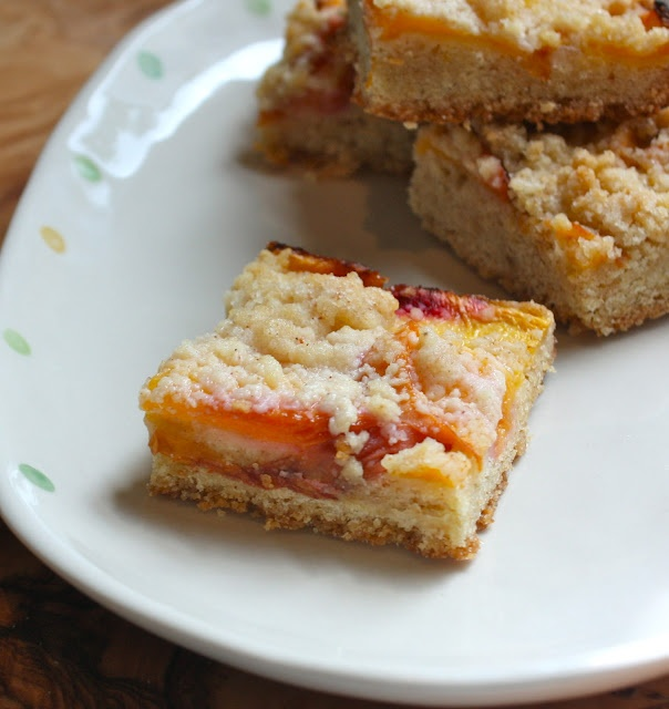 brown butter peach shortbread bars | Recipes to Try | Pinterest
