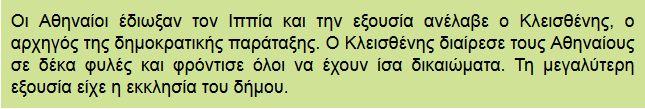 Ο Κλεισθένης θεμελιώνει τη δημοκρατία στην Αθήνα,Διαμαντής Χαράλαμπος, εκπαιδευτικά λογισμικά, χρήση ΤΠΕ μέσα στην τάξη, Ασκήσεις on line για τη ιστορία Δ τάξης