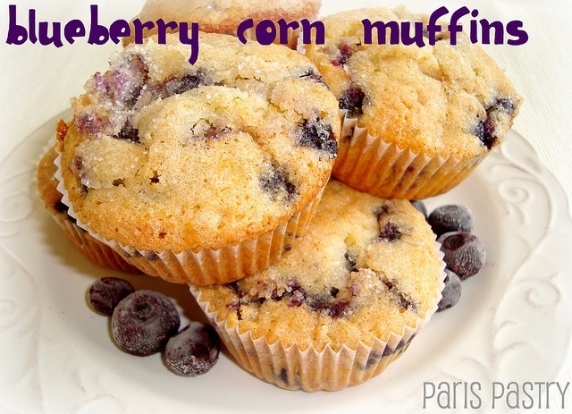 Blueberry Corn Muffins | Desserts | Pinterest